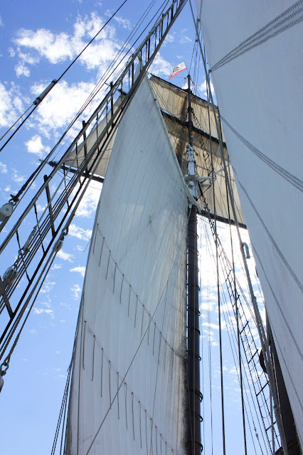 full sail of the californian tall ship