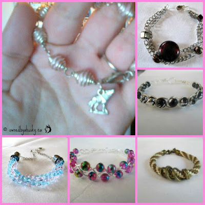 Handmade jewelry with dog and cat charms