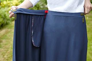Debbie Jersey Wrap Skirt - secure velcro fasten