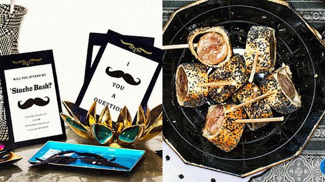 Movember Mo Party ideas Rachael Ray Mustache Party