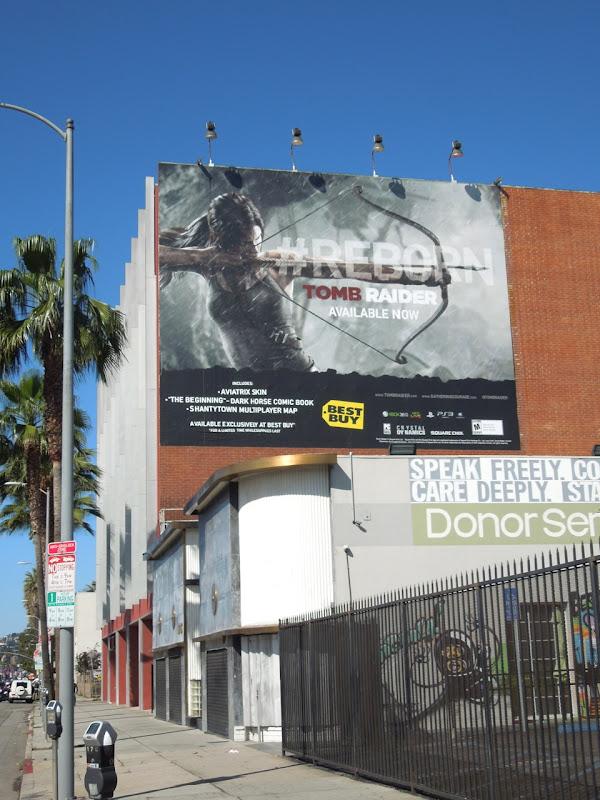 Tomb Raider Reborn video game billboard