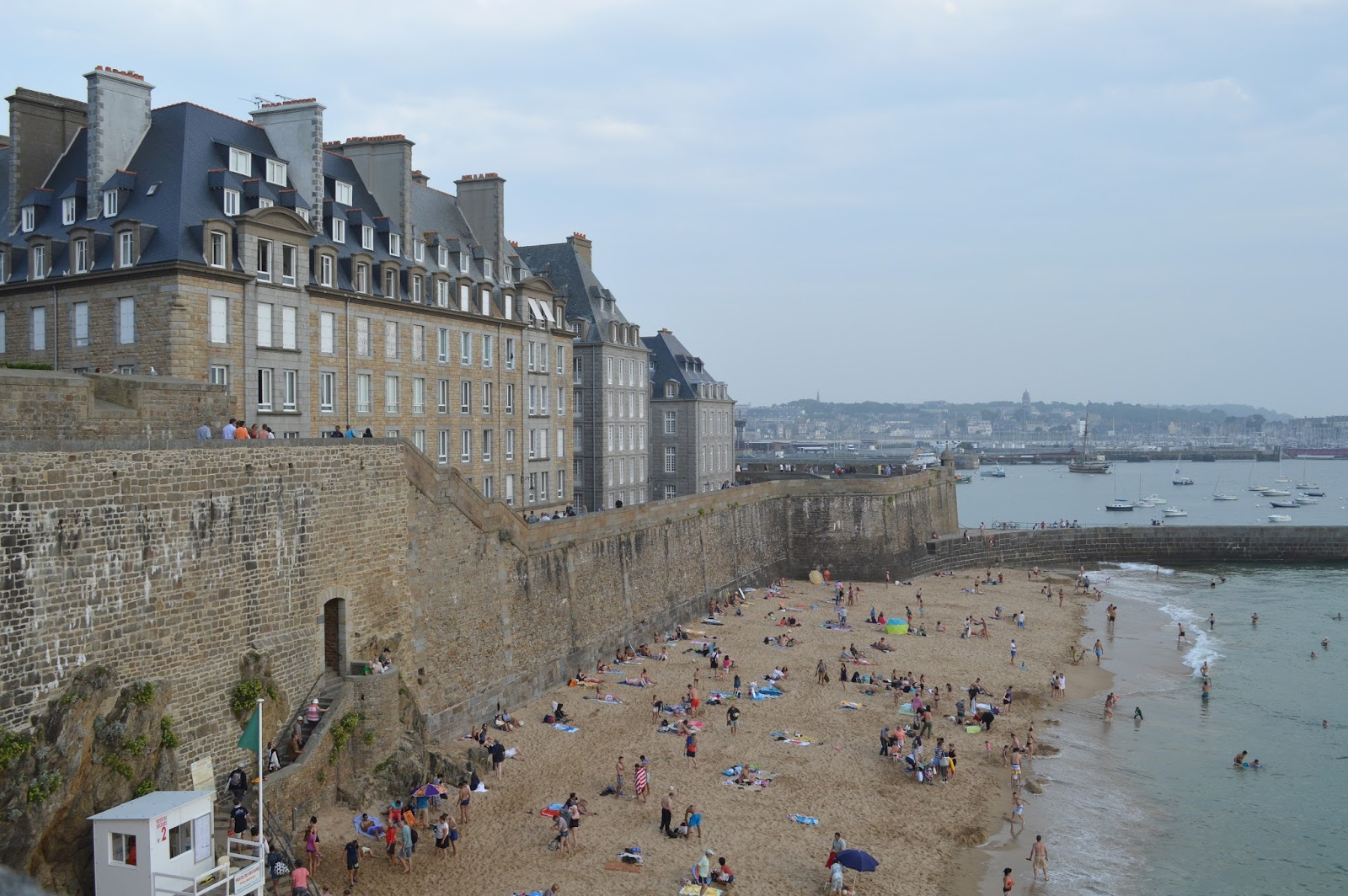 Saint-Malo beach in Brittany
