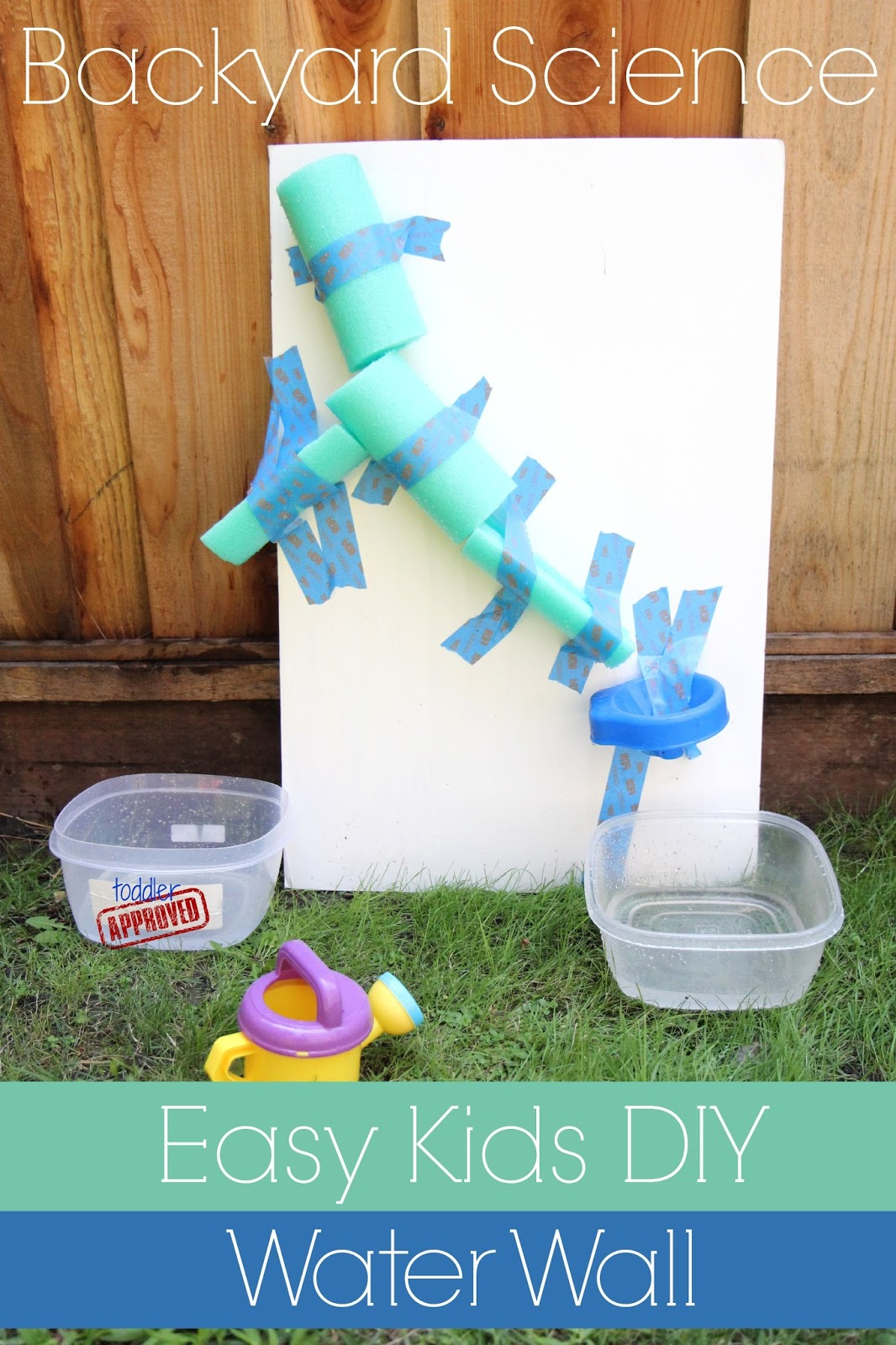 Toddler Approved Easy Diy Water Wall For Kids Backyard