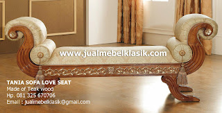 Supplier Indonesia Classic Furniture wooden teak sofa carved from Jepara