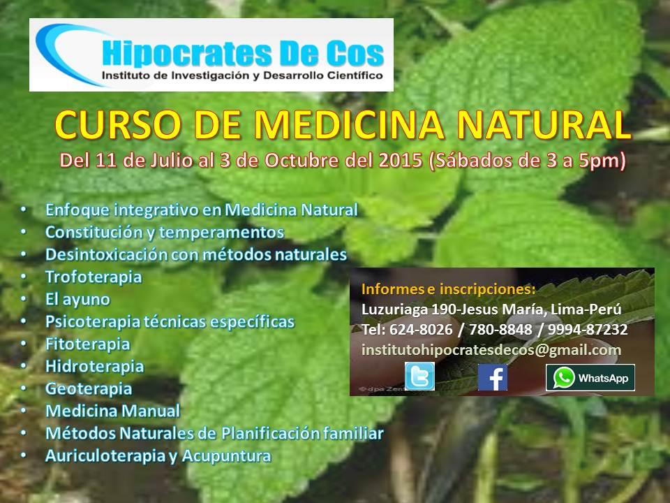 Curso de medicina natural
