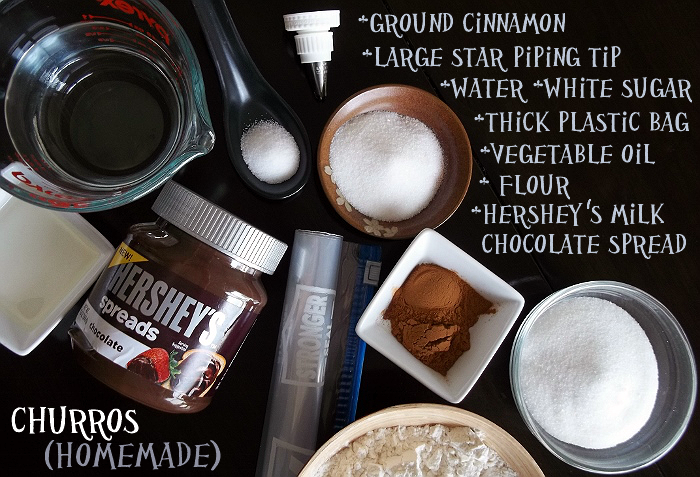 Homemade Churro Ingredients Hershey's Spreads #ad