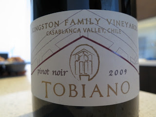 Label for 2009 Kingston Family Vineyards Tobiano Pinot Noir from Casablanca Valley, Chile