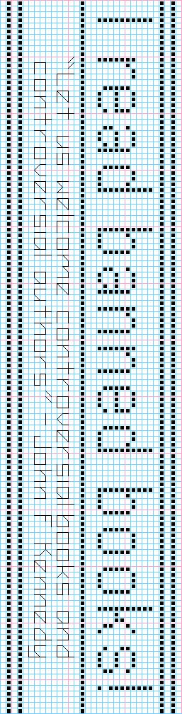Cross stitch pattern- I read banned books! bookmark