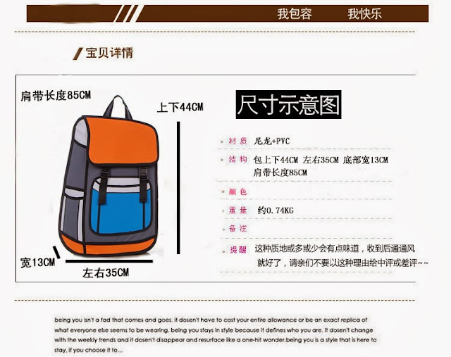 Bag 2D Description
