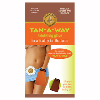 tan-a-way exfoliating glove