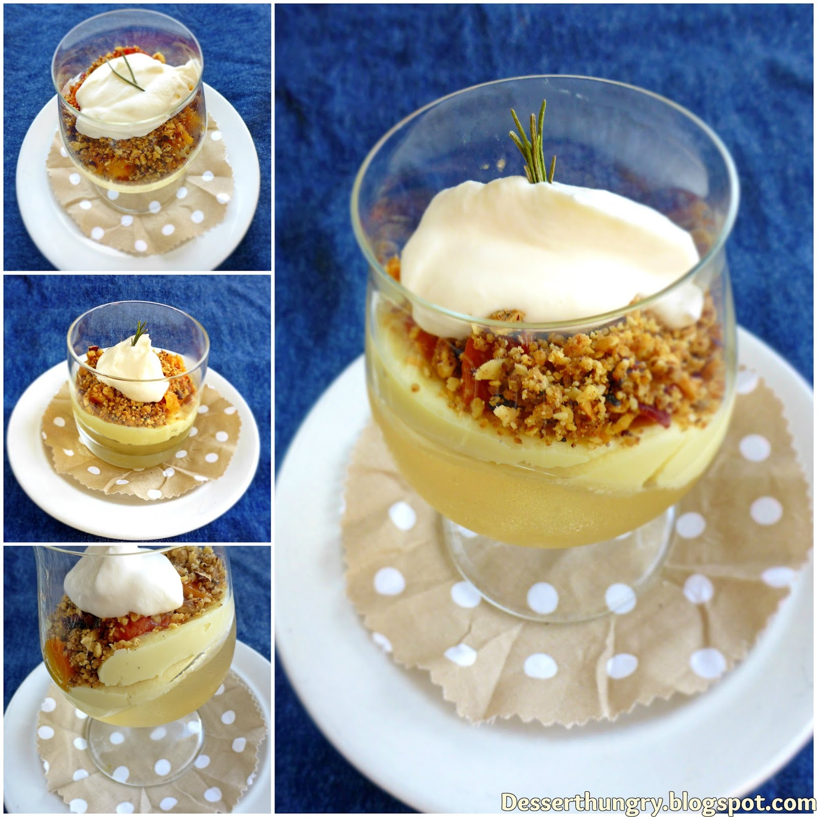 Prosecco and peach verrine by dessert hungry epicurious for Prosecco dessert recipes