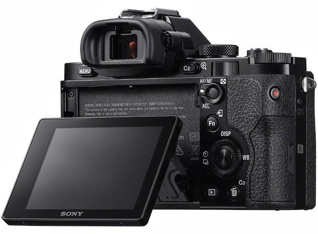 Fotografia del monitor basculante della Sony A7R o ILCE-7R