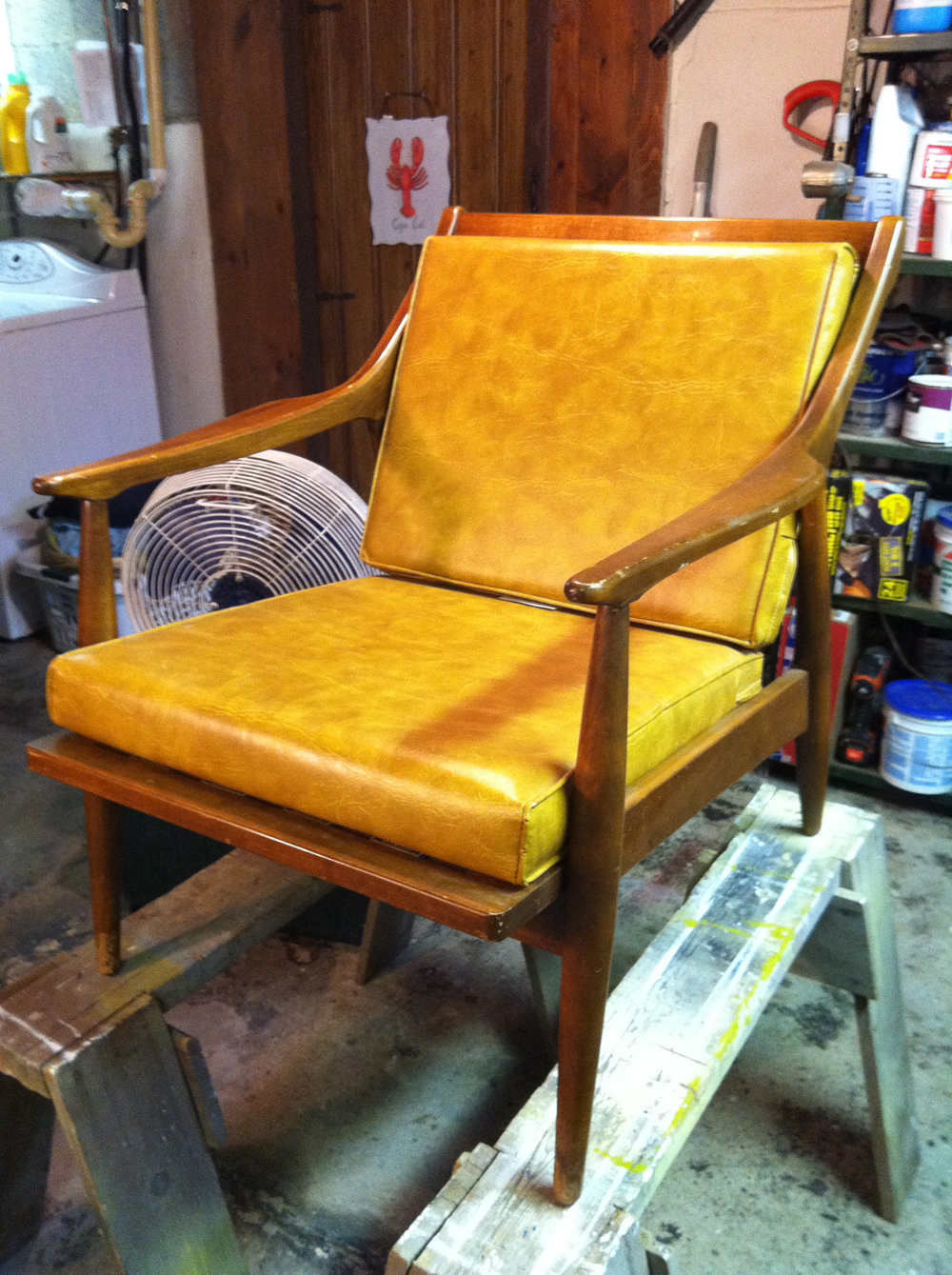 Once Upon a Tomato...: Before and After: 50's Style Arm Chair ...