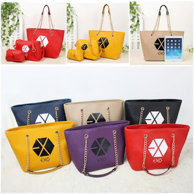 K - POP BAG STYLE ( 3 IN 1 SET ) - RED , YELLOW