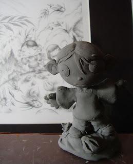 orme magiche il bambino dei moschini statuette sculture action figure fatta a mano