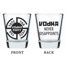 Buy Ek Do Dhai Vote For Vodka Shot Glass 2 Pcs Set at Rs.169 : Buy To Earn