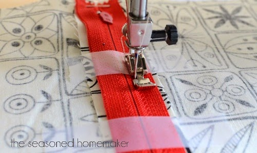 Machine- Stitch Zipper Application