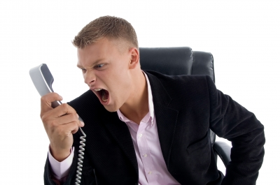 Home Business Partner  Upset Person On Phone