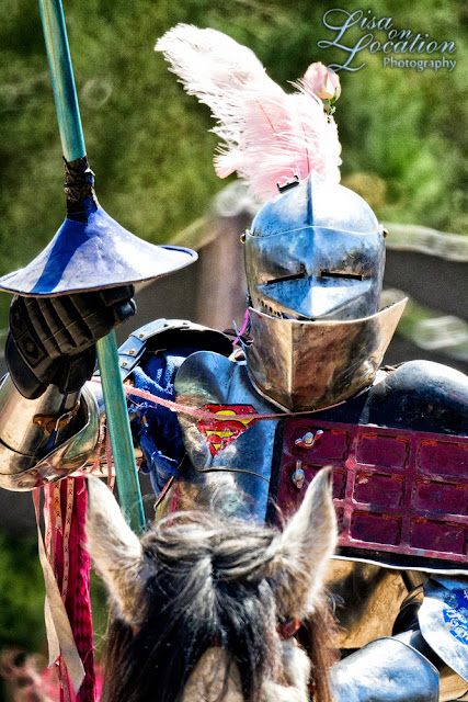 Sherwood Forest Faire, Lisa On Location photography, Canon 500mm reflex mirror lens, Superman, knight, joust