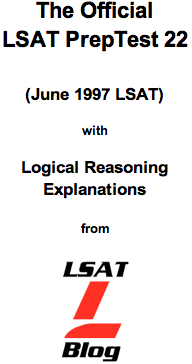 LSAT Blog PrepTest 22 June 1997 LSAT PDF
