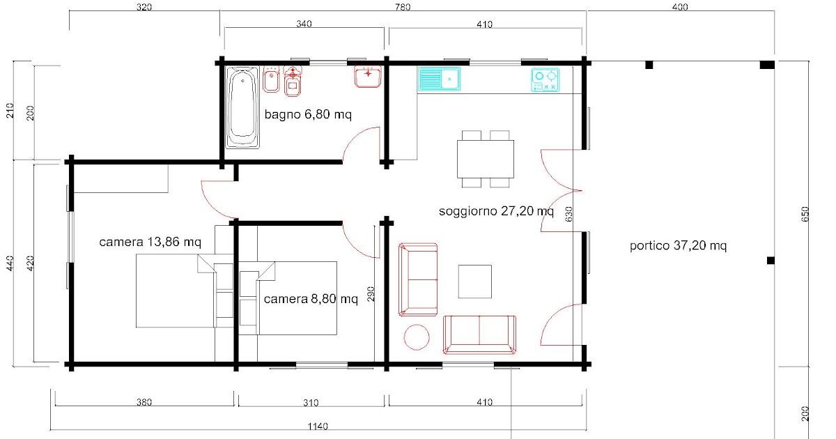 Progetti di case in legno casa 65 mq portico 37 mq for Progetti di portico anteriore