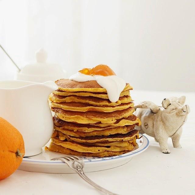 Панкейки тыква+апельсин