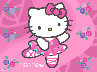 Hello Kitty bailando