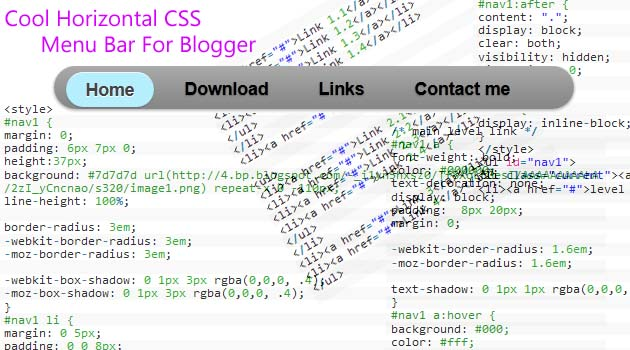 ඔයාලගේ Blog එකට Horizontal CSS Menu Bar එකක්
