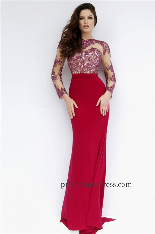 Exquisite Long Sleeve Prom Dresses For 2016 Exquisite Long Sleeve
