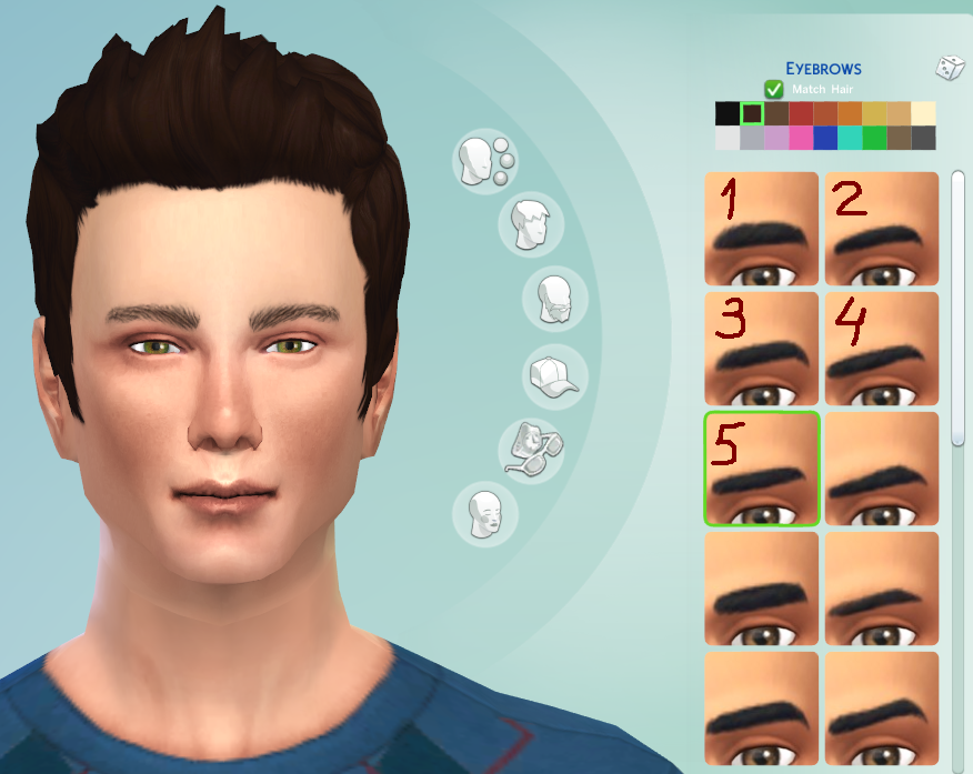 My Sims 4 Blog Default Replacement Eyebrows For The Sims 4 By Sage