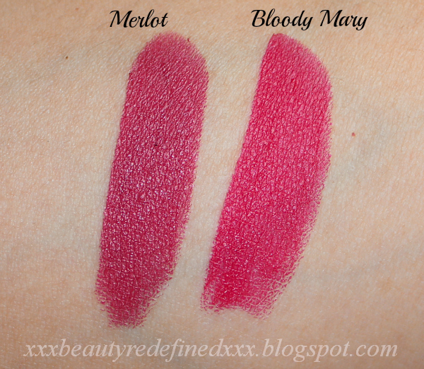 BeautyRedefined by Pang: NYX Matte Lipsticks, Merlot and Bloody Mary ... Red Lipstick Photoshoot