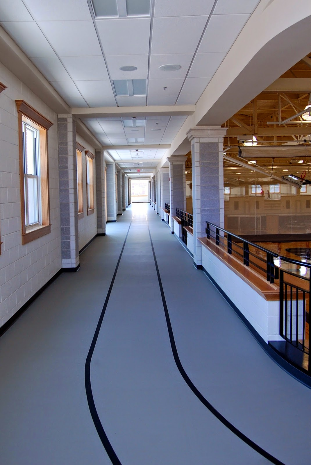 track around the 2nd level of the gymnasium