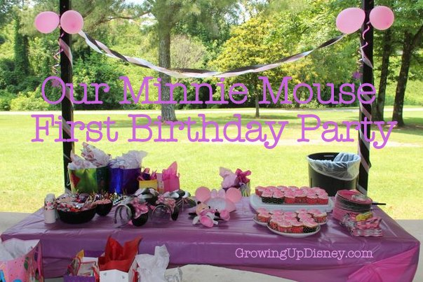 Our Minnie Mouse First Birthday Party