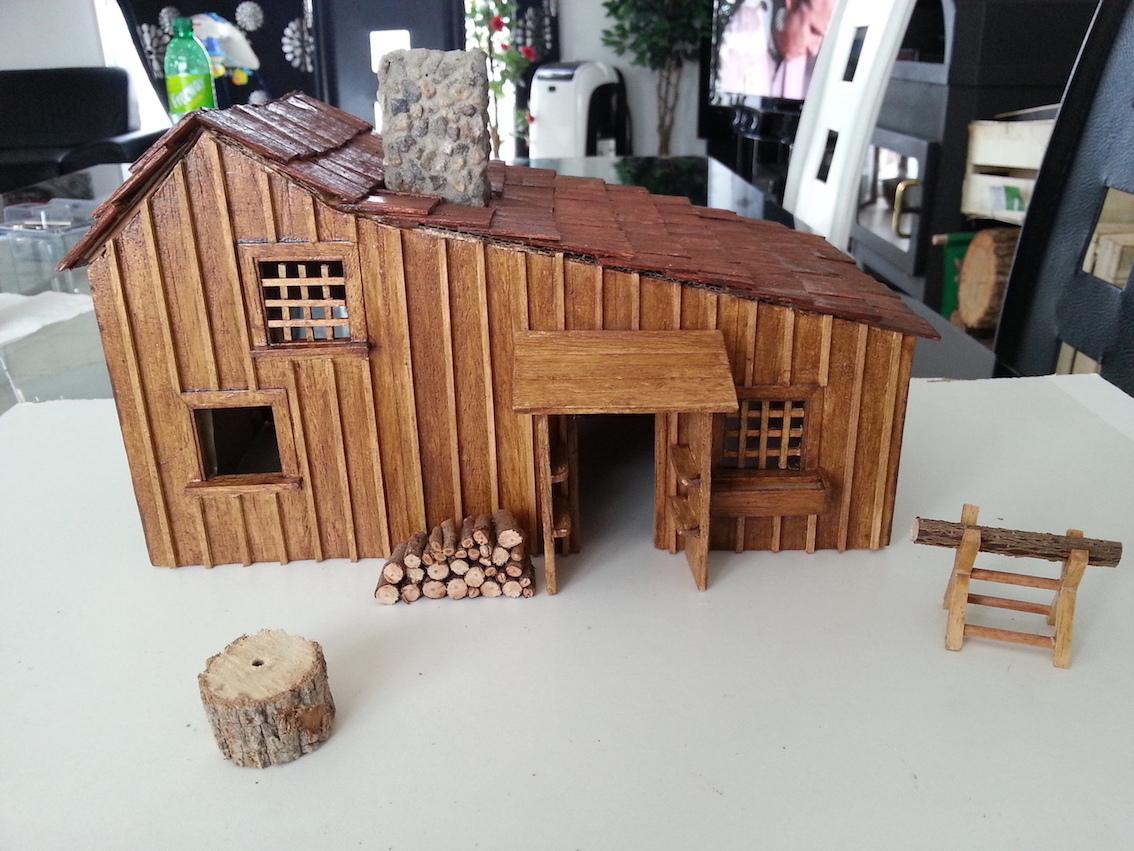 Maquette maison maison d 39 ingalls petite maison dans la for Maquette de maison