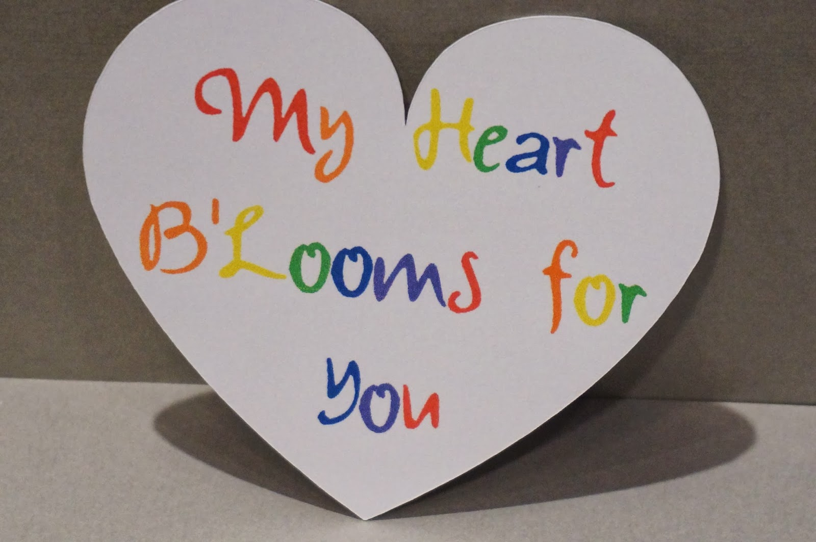 School Valentine for Rainbow Loom