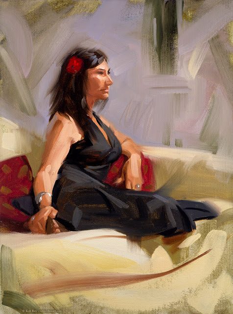 Kelly with a Carnation by Rob Rey - robreyfineart.com