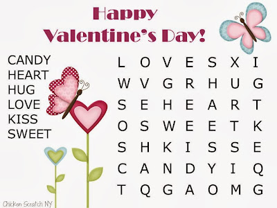 Valentines Word Search Printable 5