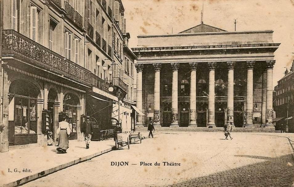 Dijon en 1900 le th tre municipal for Le miroir dijon