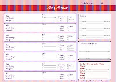 Kostenloser Blog-Planer