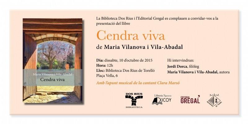 Presentació de Cendra viva a Torelló
