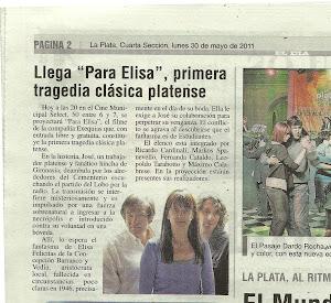"""DIARIO """"EL DÌA"""": PARA ELISA EN EL CINE SELECT"""