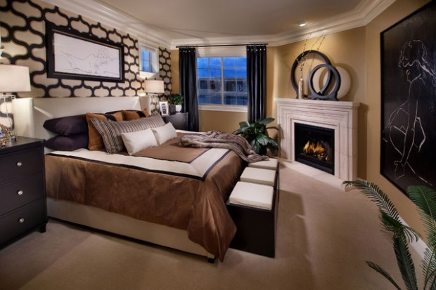 Whatever The Result You May Want To Achieve With Its Modern Interior Bedroom,  Adding A Fireplace In Your Most Private Room Will Certainly Give An ...