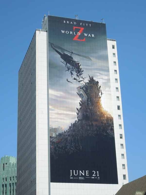 Giant World War Z movie billboard