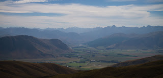 View from the Nevis road down in the Mataura valley