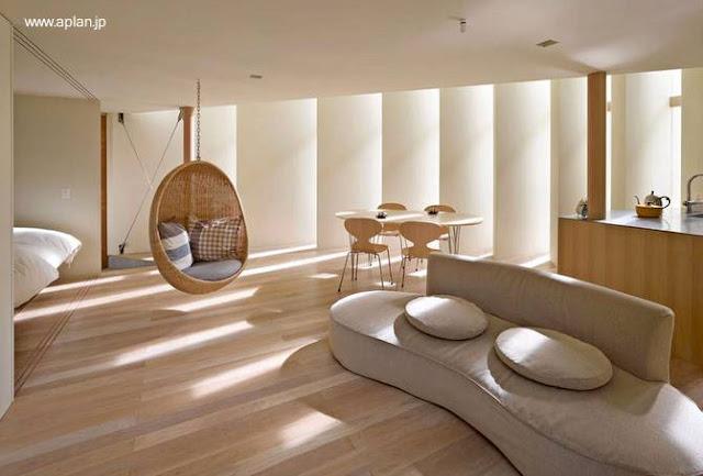 Interior de una casa japonesa ultramoderna