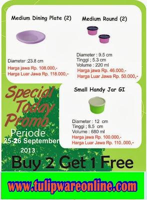 Promo Tulipware 25-26 Sept 2013