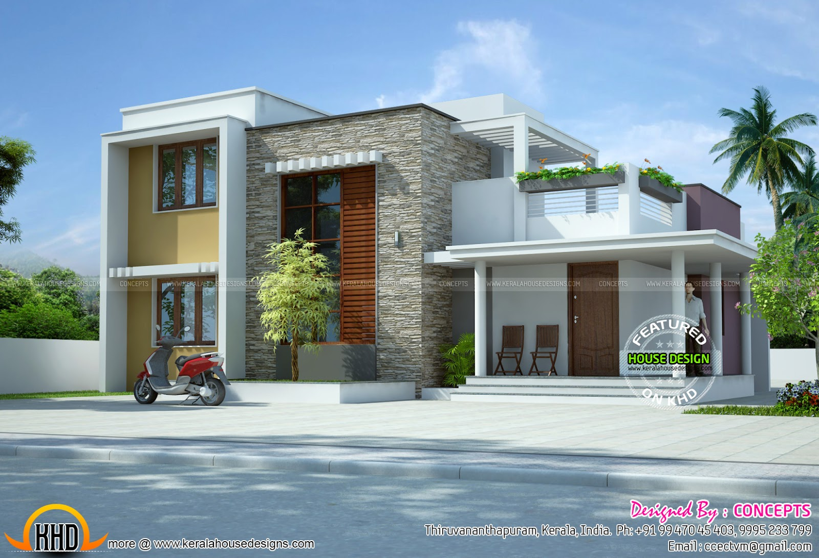 One House In 3 Different Styles With Plan Kerala Home