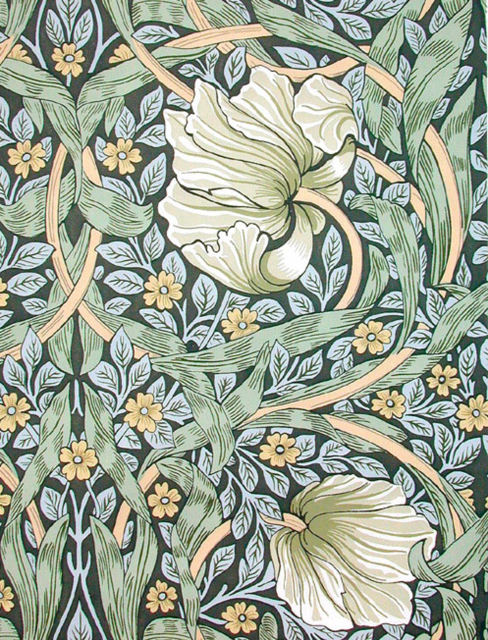 Vintage wallpaper patterns google search for Arts and crafts style prints