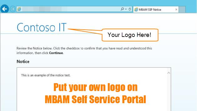 Como insertar su propio logotipo en el portal de MBAM Self Service