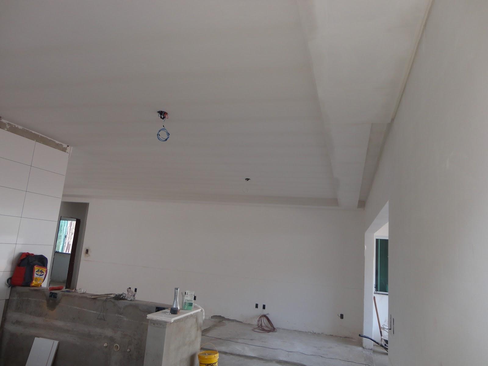 nossa casa nosso sonho : gesso na cozinha e sala de jantar integrados #6D5C44 1600 1200